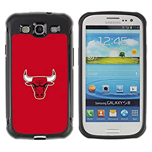 King Case@ Mean Bull Basketball Rugged hybrid Protection Impact Case Cover For S3 Case ,I9300 Case Cover ,I9308 case ,Leather for S3 ,S3 Leather Cover Case