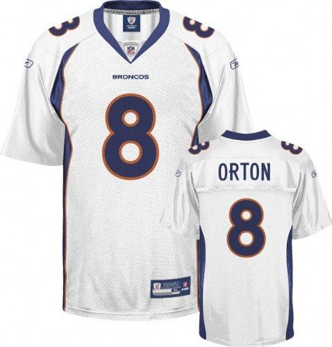 White Replica #8 Denver Broncos Jersey