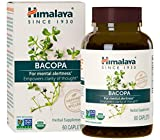 Himalaya Organic Bacopa Monnieri/Brahmi, Brain Supplement, Nootropic & Brain Booster for Enhanced Mental Focus + Memory + Clarity, 60 Caplets, 750mg, 2 Month Supply