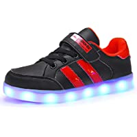 Skybird-UK LED Light up Trainers 7 Colors Luminous Flashing USB Charge Breathable Sport Running Shoes Gymnastic Tennis Sneakers Best Gift for Boys and Girls Birthday