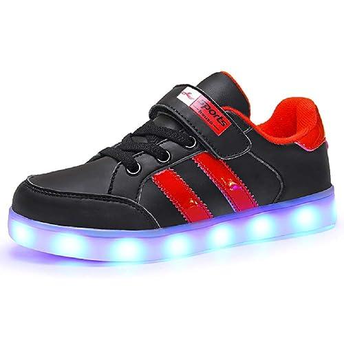 1ea1b25c0 Axcer LED Zapatos Verano Ligero Transpirable Bajo 7 Colores USB Carga  Luminosas Flash Deporte de Zapatillas con Luces Los Mejores Regalos para  Niños Niñas ...