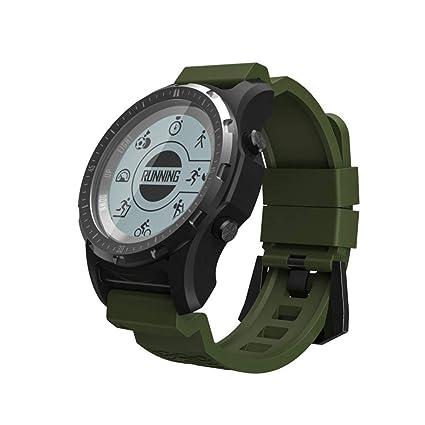 ZLOPV Pulsera Activa GPS, Reloj Inteligente, Hombres Reloj ...