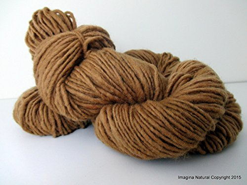 Organic Natural Real Oak Colour, Hand Spun, Pure Handmade Wool, Non Toxic, Hand Painted, Non intensively Farmed. Natural Brown Plant Colour ()