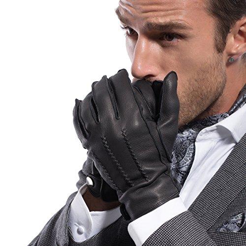 MATSU Men Winter Warm Deerskin Leather 1 - Mens Leather Dress Gloves Shopping Results