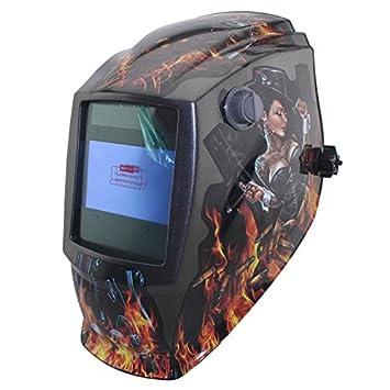 Gran potencia de vista eara Solar oscurecimiento automático pulido strikeforce TIG soldadura soldador MIG MAG gorra casco máscara: Amazon.es: Bricolaje y ...