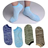 "SUSocks Low Cut ""4 Pairs"" Liner Ankle Socks Cotton Ultimate Mens Socks Non Slip"