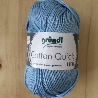 Gründl Cotton Quick Uni Ventaja, Pack 10 knäuel Mano de Lana, algodón, Cielo Azul, 29 x 12 x 7 cm: Amazon.es: Hogar