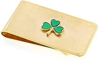 product image for JJ Weston Irish Shamrock Money Clip. Made in The USA.