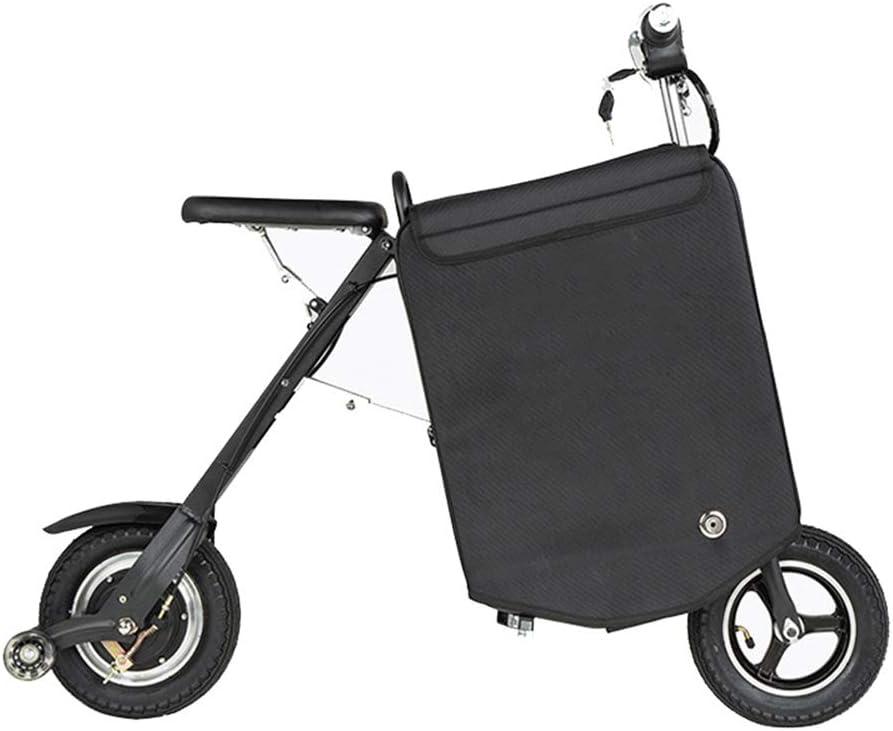 Rxrenxia Eléctrica Plegable De Equipaje del Coche, Bicicleta Plegable Eléctrica, Cómodo Y Rápido Tráfico Edad Dos Ruedas Mini Pedal del Coche Eléctrico Aire Libre Aventura