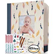 Baby Memory Book - 48 pages, 65 Specially Designed Stickers, Unisex. The Perfect Present for a New Parents by Fyutzi