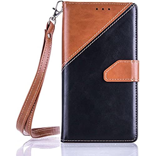 Samsung Galaxy S7 Case, YouVogue Wallet Case PU Leather Stand Case Credit Card Holder Flip Cover Skin with Secure Wrist Strap, Brown+Black Sales
