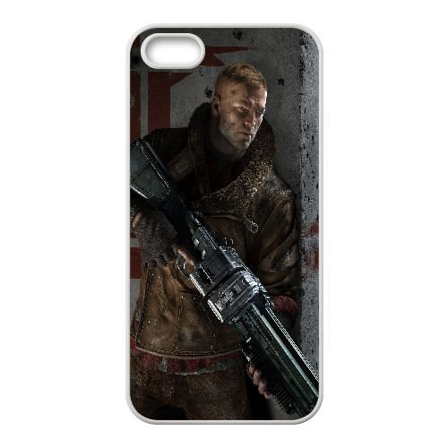 B5L83 Wolfenstein le nouvel ordre R1Y7VR coque iPhone 4 4s cellulaire cas de téléphone couvercle coque blanche WS9VAI4FK