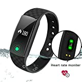 Finess tracker,DENISY Smart Bracelet with Heart Rate Monitors for IOS and Android Watch Wristband