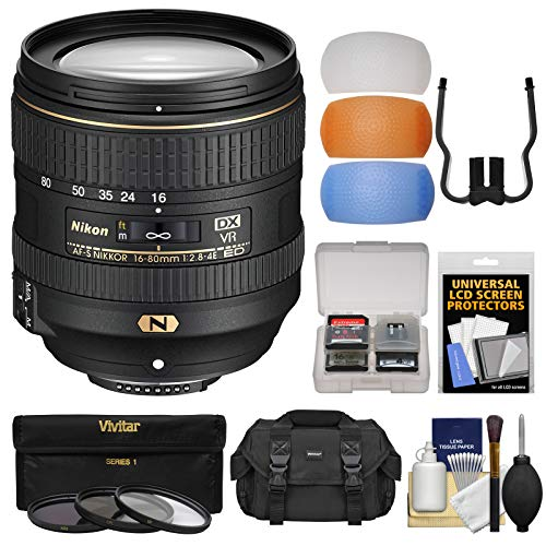 Nikon 16-80mm f/2.8-4E VR DX AF-S ED Zoom-Nikkor Lens with 3