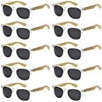 Got Shades offers adult unisex 10 pack bamboo environmental eco friendly biodegradable bamboo temple sunglasses available in various color options. The glasses are normal sunglasses that retails at 15-20. Excellent for parties favors, birthdays, scho...