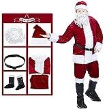 Ridsmc Santa Claus Costume For Men Christmas Claus Suit Hat Santa Claus Decoration