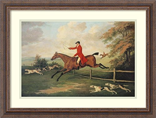Framed Art Print 'Fox Hunting Scene' by J.n. (Hunting Framed)