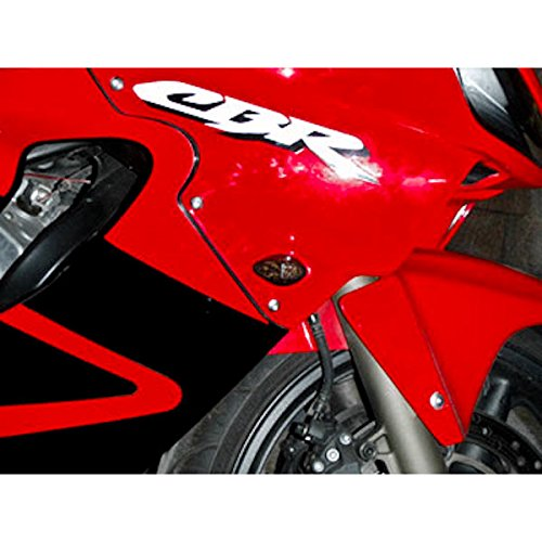 Krator TL-GJ-011-S Turn (Motorcycle 2002-2008 Yamaha LED Flushmount Smoked Flush Mount Indicators Signals Fits R1 R6S FZ1 FZ6),