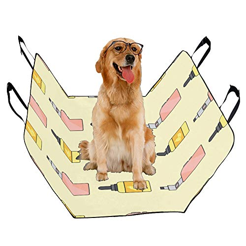 JTMOVING Fashion Oxford Pet Car Seat Juice Box Drink Sour and Sweet Waterproof Nonslip Canine Pet Dog Bed Hammock Convertible for Cars Trucks SUV ()