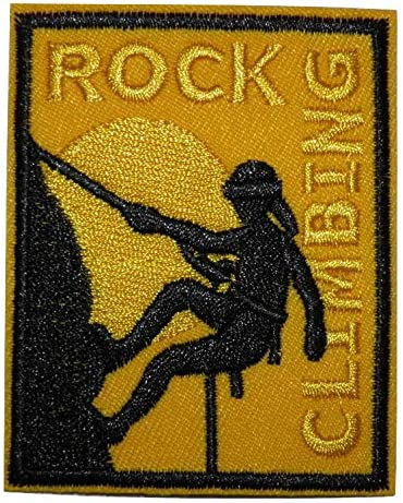 Parche bordado termoadhesivo, diseño de escalada Rock Climbing
