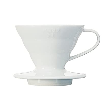 Hario V60 Ceramic Coffee Dripper (Size 01, White)