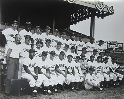 1949 BROOKLYN DODGERS 16X20 PHOTO FROM ORIGINAL NEGATIVES JACKIE ROBINSON
