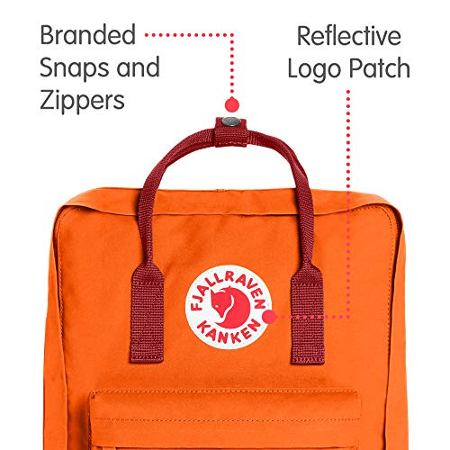 Fjallraven - Kanken Classic Pack, Heritage and Responsibility Since 1960, One Size,Burnt Orange/Deep Red by Fjallraven (Image #2)