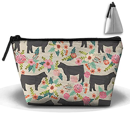 New Portable Show Steer Cows Farm Barn Florals Design Travel&home Bag Storage Bag Buggy Bag Printed Cosmetic Bags Toiletry Bag Make-up Receive