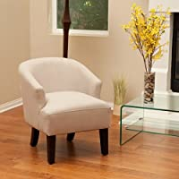 Luciana Beige Putty Linen Accent Chair
