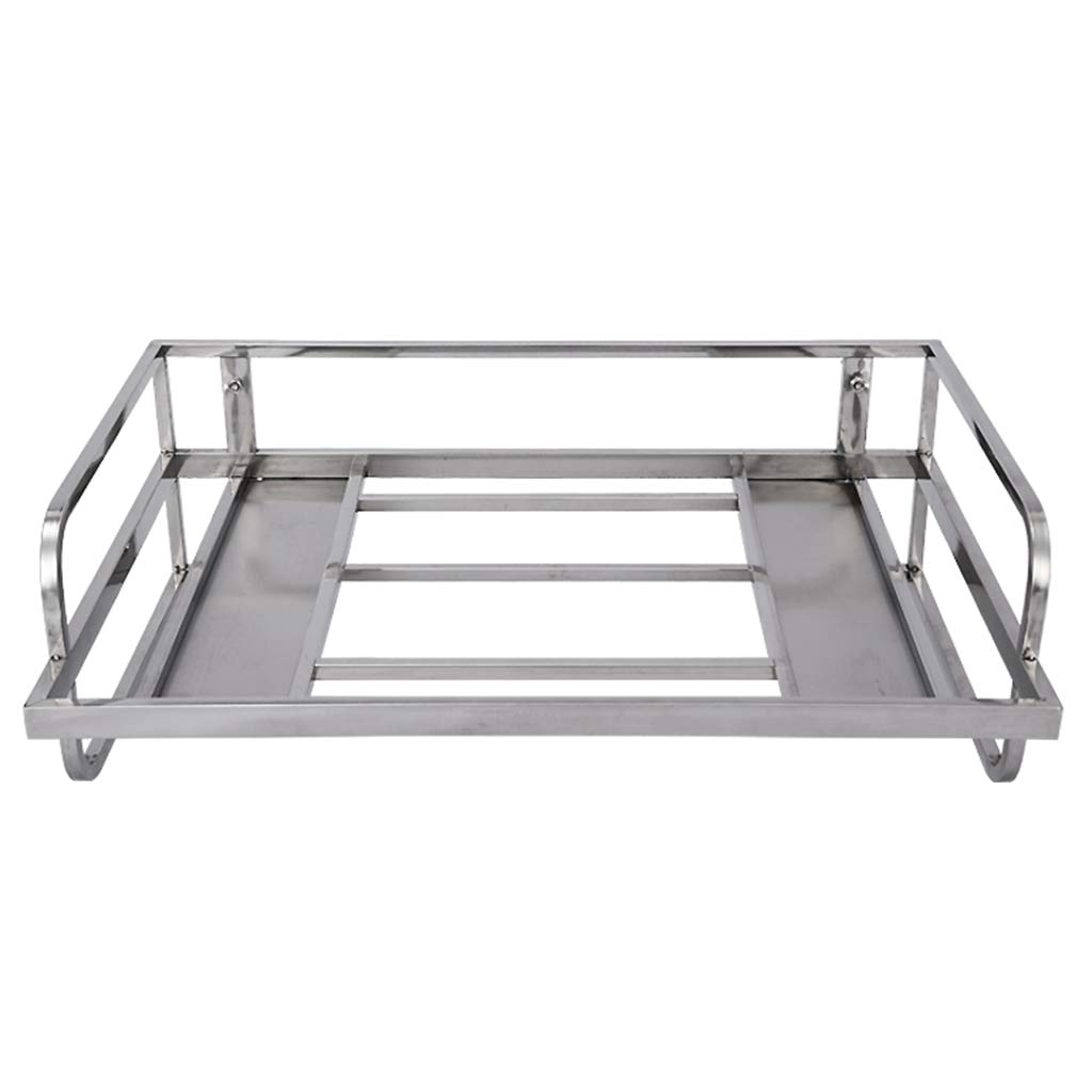 PM-Shelf Stainless Steel Single-Layer Microwave Oven Rack Kitchen Rack 55 38 18cm