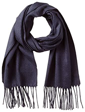 V Fraas Men's Solid Scarf, Navy, One Size