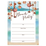 "Beach Party Invitations with Envelopes (Pack of 25) Any Occasion Large 5x7"" Fill in Engagement, Bachelorette, Housewarming, Bridal Shower, Graduation Excellent Value Party Invites VI0061B"