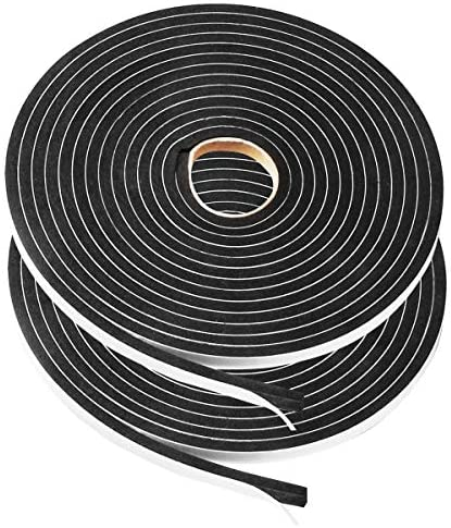 USA Sealing Inc.-Black Silicone Foam with Adhesive-1//2T x 1//2W x 6 ft.