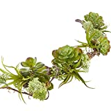 Factory Direct Craft Woodland Artificial Mixed Succulent Garland for Home Decor, Embellishing and Displaying