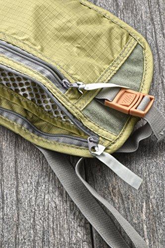 SE TP101-POUCH Concealed Dual Zipper Travel Pouch