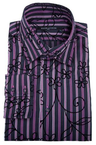 Guide de Londres manches longues Loisirs shirt noir Rose Blanc GL350L3-260