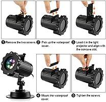 Zanflare - Luces LED para proyector, 16 diseños de iluminación con ...