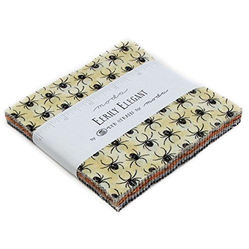 Deb Strain Eerily Elegant Charm Pack 42 5-inch Squares Moda Fabrics (Art Attack Crafts Halloween)