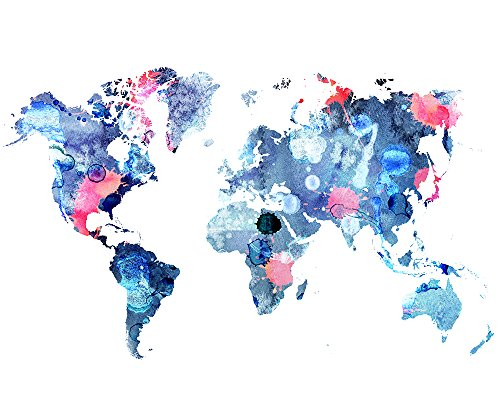 Review World Map Print –