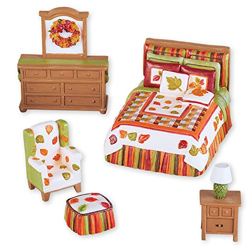 Mini Fall Bedroom Set Tabletop Decoration by Collections Etc