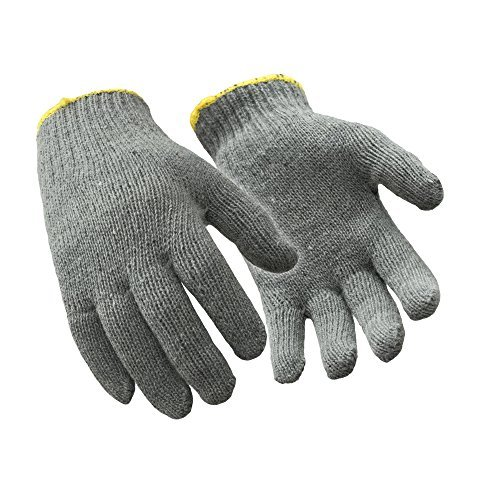 Gray Liner Glove (RefrigiWear Midweight Knit Glove Liner, Pack of 12, Gray Large)