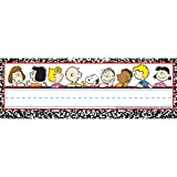 Eureka Peanuts Classic Characters Name Plates, includes 36 tented name plates, measuring 9.62'' x 6.5''