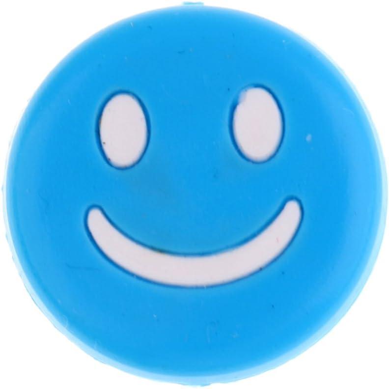 SaniMomo 18pcs Smile Face Silicone Vibration Dampeners For Tennis Squash Racket