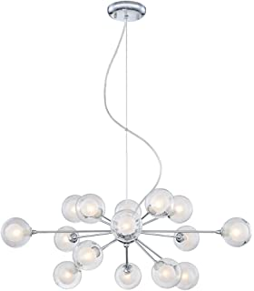 Possini Euro Design Glass Sphere 15 Light Pendant Chandelier