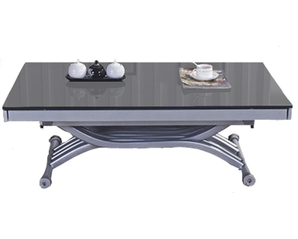 rdm concept table basse relevable allonges zen verre gris