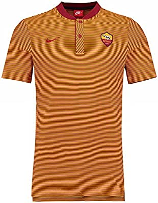 2017-2018 AS Roma Nike Authentic Grand Slam Polo Shirt (Team ...