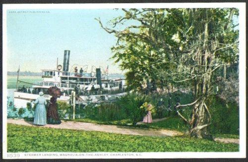 Steamer General Magnolia-on-the-Ashley French Charleston SC postcard 1910s ()