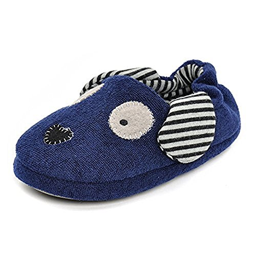 Enteer Boys Slippers Cartoon Puppy House Shoes (11-12 M US Little Kid, (Cartoon House)