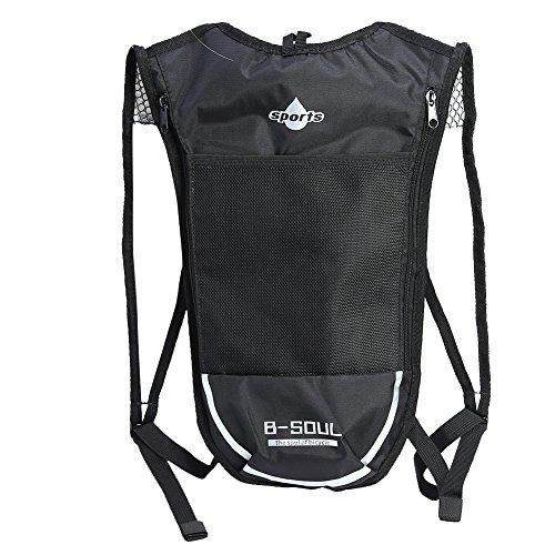 Broadroot Camping mochila bolsa de agua bolsa de vejiga Hidratación Pack para Senderismo Ciclismo, Black+White: Amazon.es: Deportes y aire libre