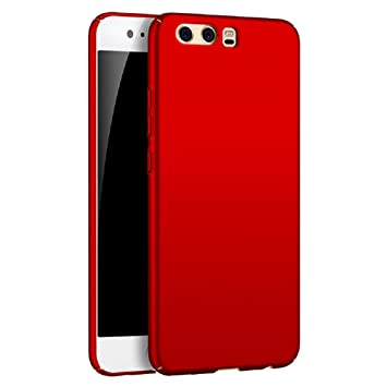 vasta selezione di 4b637 2386e Apanphy HUAWEI P10 Plus Case [High Quality] [Ultra Slim] [Hard Silky]  [Scrub Shell] [Full Protection] [Rear Skin Feel] Cover For HUAWEI P10 Plus  Red